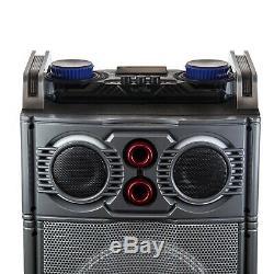 TRIPLE 10 2500W Portable Bluetooth Subwoofer Party DJ SPEAKER Reactive Lights