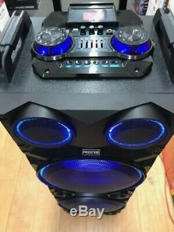 TWS 2 Bluetooth Rechargeable Party DJ Speaker Dual 12 inch Wireless Mic/Lights