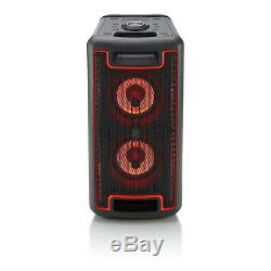 Wireless Bluetooth 160-Watt Portable Audio Party Speaker with LED Lighting Effects