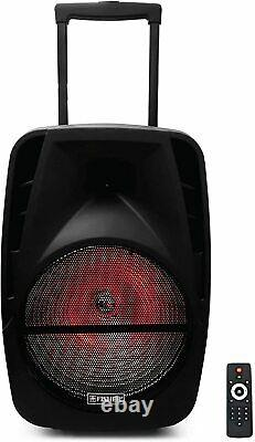 #1 15 Pouces Portable Bluetooth Speaker Sub Woofer Heavy Bass Sound System Party