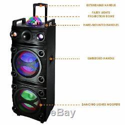 10 Haut-parleurs Portables Bluetooth De Partie Inférieure En Haut À Del De Projection À Dôme Sans Fil