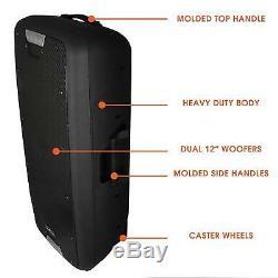 10 Party Bluetooth Portable Pa Système D'enceintes Sans Fil MIC À Distance Du Microphone