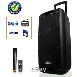 10 Party Bluetooth Portable Pa Système D'enceintes Sans Fil MIC Microphone À Distance