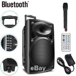 12 Haut-parleurs De Sonorisation Portables Dj Party Avec Fonction De Télécommande Bluetooth Usb