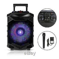 12 Haut-parleurs Portables Bluetooth Bt Bass Karaoke Party + Trépied