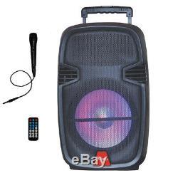 12 Haut-parleurs Roulants Portatifs Alimentés Portatifs De Dj Party Avec La Télécommande Bluetooth Usb