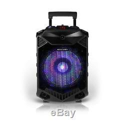 12 Portable Speaker Party Dj Pa Système Stéréo Sans Fil Avec Micro Fort