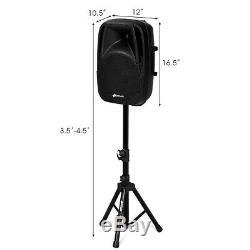 12 X 10,5 X 16,5 Bluetooth Double Alimentation Micro Haut-parleur Haut-parleurs De Soirée De Mariage