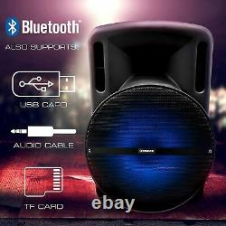 15 3600w Portable Bluetooth Speaker Sub Woofer Heavy Bass Sound System Party
