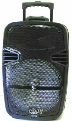 15 4600w Partie Sans Fil Portable Fm Bluetooth Haut-parleur Subwoofer Basse Lourde