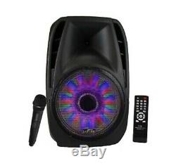 15 Bluetooth Portable Rechargeable Parti Pa Enceintes Tailgate Bass Avec MIC
