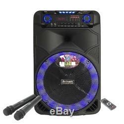 15 '' Système De Haut-parleurs Audio Dj Portable Karaoke Party Pa Dj Avec Microphone