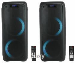 (2) Rockville Rock Party 6 Dual 6.5 Haut-parleurs À Piles Sans Fil