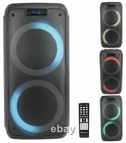 (2) Rockville Rock Party 8 Dual 8 Haut-parleurs De Batteries De Liaison Sans Fil Alimentés