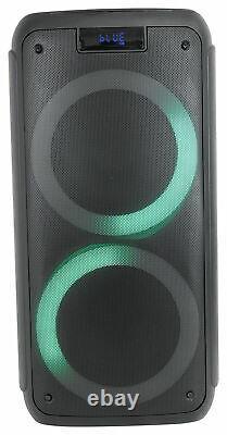 (2) Rockville Rock Party 8 Dual 8 Wireless Linking Battery Powered Speakers (2) Rockville Rock Party 8 Dual 8 Wireless Linking Battery Powered Speakers (2) Rockville Rock Party 8 Dual 8 Wireless Linking Battery Powered Speakers (
