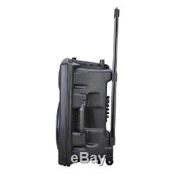 250w 12 Karaoke Party Bluetooth Sans Fil Haut-parleur Portable Avec Télécommande Fm Dj Micro