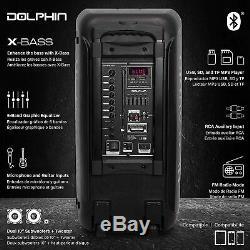 3400w Dolphin Sp-2100rbt Rechargeable Parti Haut-parleur Bluetooth Double 10 Wavesync
