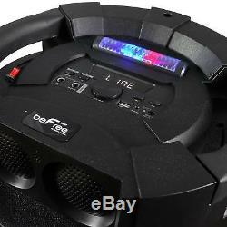 360 Haut-parleurs Portables Bluetooth Dj Du Son 12 De Subwoofer À 360 Degrés Allume 2 Microphones