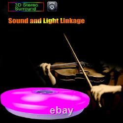 36w 110v Modern Led Music Ceiling Light Rgb Bluetooth Haut-parleur Vers Le Bas
