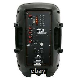 4.400 Watts Party Portable Bluetooth Sans Fil Haut-parleurs-pied De Micro À Distance