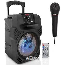 400w Haut-parleur Sans Fil Bluetooth Haut-parleur Portable Party 8 Avec Micro Et Télécommande
