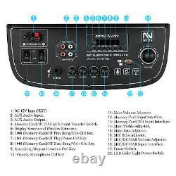 4500w Bluetooth Haut-parleur Trolley Dual 10 Woofer Party Fm Karaok Dj Led Aux Usb
