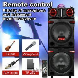4500w Dual 10 Subwoofer Bluetooth Haut-parleur Rechargeable Party Avec Led Fm Karaok Dj