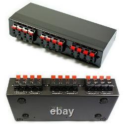 5 Zone Outdoor Bluetooth System-10x Weaterproof Black Speakerjarden Stereo Kit