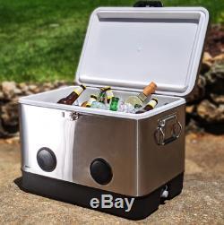 54 Pintes Brekx Party Cooler Avec Bluetooth Haut-parleurs En Acier Inoxydable