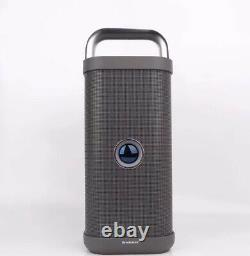 72w Brookstone Party Indoor Outdoor Portable Subwoofer Bluetooth Speaker (gray)
