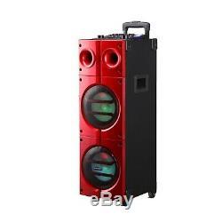 8x2 Pouces Bluetooth Haut-parleur Dj Party Portable Avec Entrée Guitare, Micro Sans Fil