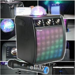 Accueil Machine Pack Karaoke. Lecteur, Président Bluetooth, Party Lights, Micro Sans Fil