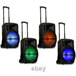 Acoustic Audio Rechargeable 15 Haut-parleur Bluetooth Party Avec Lumières Et Micro Sans Fil
