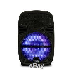 Acoustique Audio Rechargeable 12 Haut-parleurs Bluetooth Party Avec Des Lumières Mics Et Supports