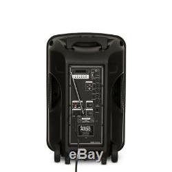 Alimenté Par Batterie Audio Acoustique 12 Bluetooth Party Haut-parleur Avec Lumières Et MIC