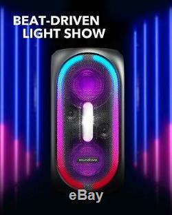 Anker Soundcore Rave Party Portable Speaker 107db Son Light Show Playtime 24h
