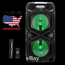 Atalax Onyx Super Bass Sans Fil Avec Microphone Party Président (vendeur Etats-unis)