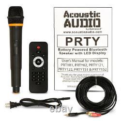 Audio Acoustique Rechargeable 15 Haut-parleurs Bluetooth Avec Lumières Mics & Stands