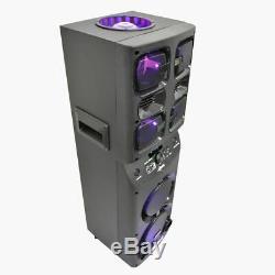 Axess Pabt6026 2 X 6,5 Party Rechargeable Speaker + Usb / Aux / Fm + Led Champignons