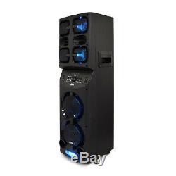 Axess Pabt6026 Bluetooth Pa Party Haut-parleur Avec Lumières Led Disco