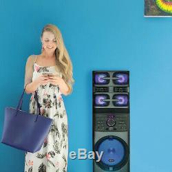 Axess Pabt6027 Haut-parleur De Sonorisation Portable Bluetooth Avec Lumières Disco Led