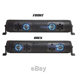 Bazooka Bpb24-ds-g2 Barre De Fête Bluetooth À 2 Côtés Barre De Son 450w Rvb Led Utv Bateau