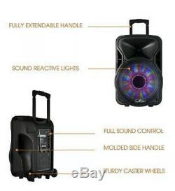 Befree 12 2500w Bluetooth Rechargeable Portable Parti Subwoofer Président Karaoke
