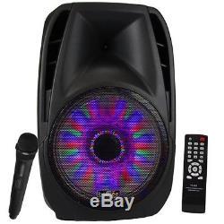 Befree 15 5000w Watt Haut Parleur Dj Pa Party Avec Micro Éclairages À Distance Bluetooth Nouveau