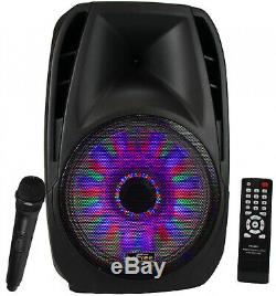Befree 15 5000w Watt Haut Parleur Dj Pa Party Avec Micro Lumières À Distance Bluetooth Nouveau