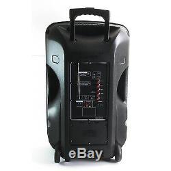 Befree 15 Lumières Système De Haut-parleurs Dj Party Rechargeables Bluetooth Nouveau Micro