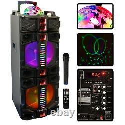Befree Dual 12 Portable Bluetooth Pa Dj Party Speaker Lights Karaoke Bfs-7777x