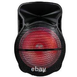 Befree Jumbo 18 Portable Bluetooth Pa Dj Party Speaker Lights MIC Guitar Usb
