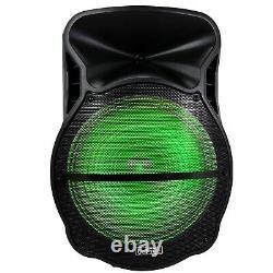 Befree Large 18 Portable Bluetooth Pa Dj Party Speaker Lights MIC Guitar Input