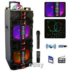 Befree Son Double 12 Pouces Parti Bluetooth Caisson De Basses Haut-parleur Portable Avec Led